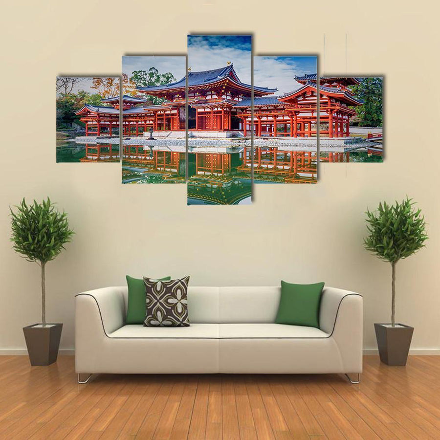 Japan Famous Byodo In Buddhist Temple Canvas Panel Painting Tiaracle