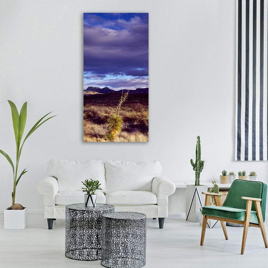 Cactus Desert In Texas America Vertical Canvas Wall Art 3 Vertical / Small / Gallery Wrap Tiaracle