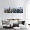 Cairo City View From Nile River In Egypt Panoramic Canvas Wall Art 3 Piece / Small Tiaracle