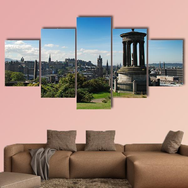 Calton Hill In Edinburgh Scotland Multi Panel Canvas Wall Art 5 Pieces(A) / Medium / Canvas Tiaracle