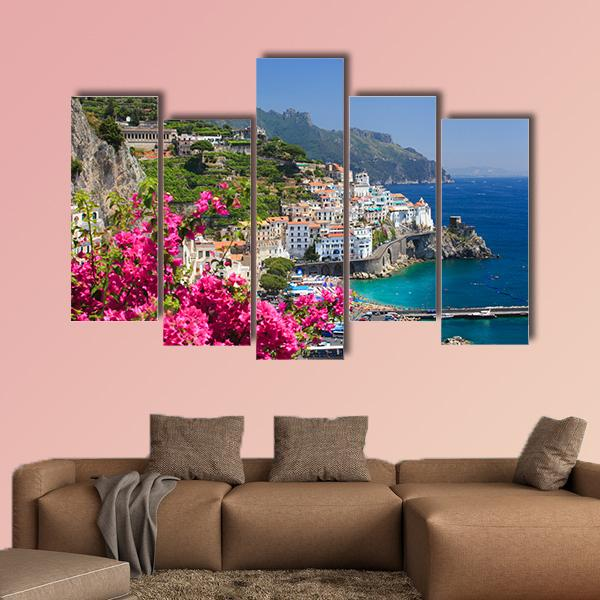 Campania Amalfi Coast Italy View from Grand Hotel 3 Horizontal / Small / Gallery Wrap Tiaracle