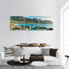 Camps Bay In South Africa At Dusk Panoramic Canvas Wall Art 3 Piece / Small Tiaracle
