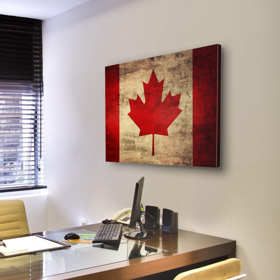 Canadian Flag Canvas Panel Painting Tiaracle