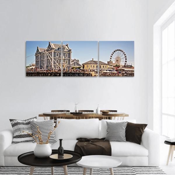Cape Town Waterfront Panoramic Canvas Wall Art Tiaracle