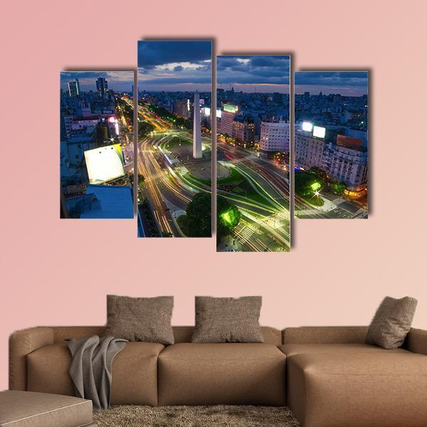 Capital City Of Buenos Aires In Argentina Multi Panel Canvas Wall Art 3 Pieces / Small / Canvas Tiaracle