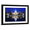 Capitol Building At Dusk Canvas Wall Art