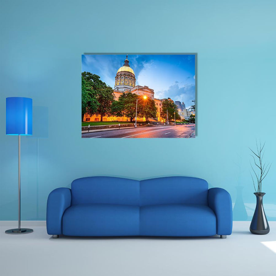 Georgia State Capitol Building In Atlanta Multi Panel Canvas Wall Art 4 Pieces / Medium / Canvas Tiaracle