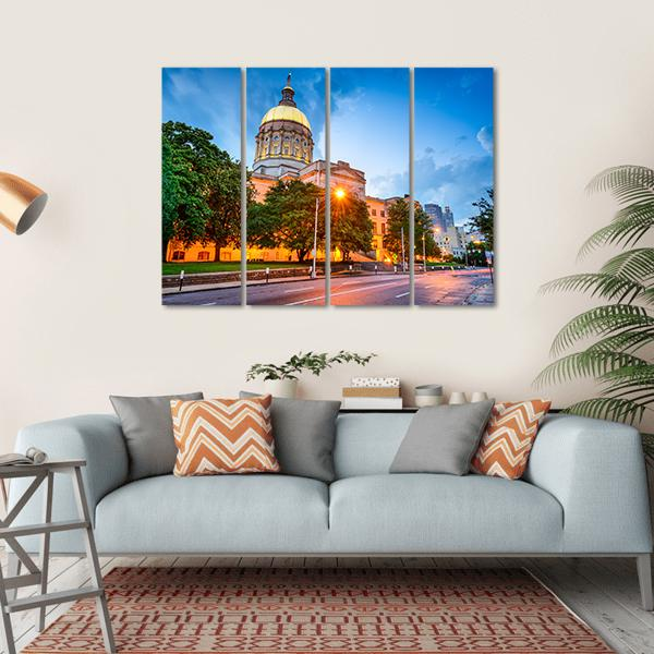 Capitol Building in Atlanta Multi Panel Canvas Wall Art-1 Piece-Small-Gallery Wrap-Tiaracle