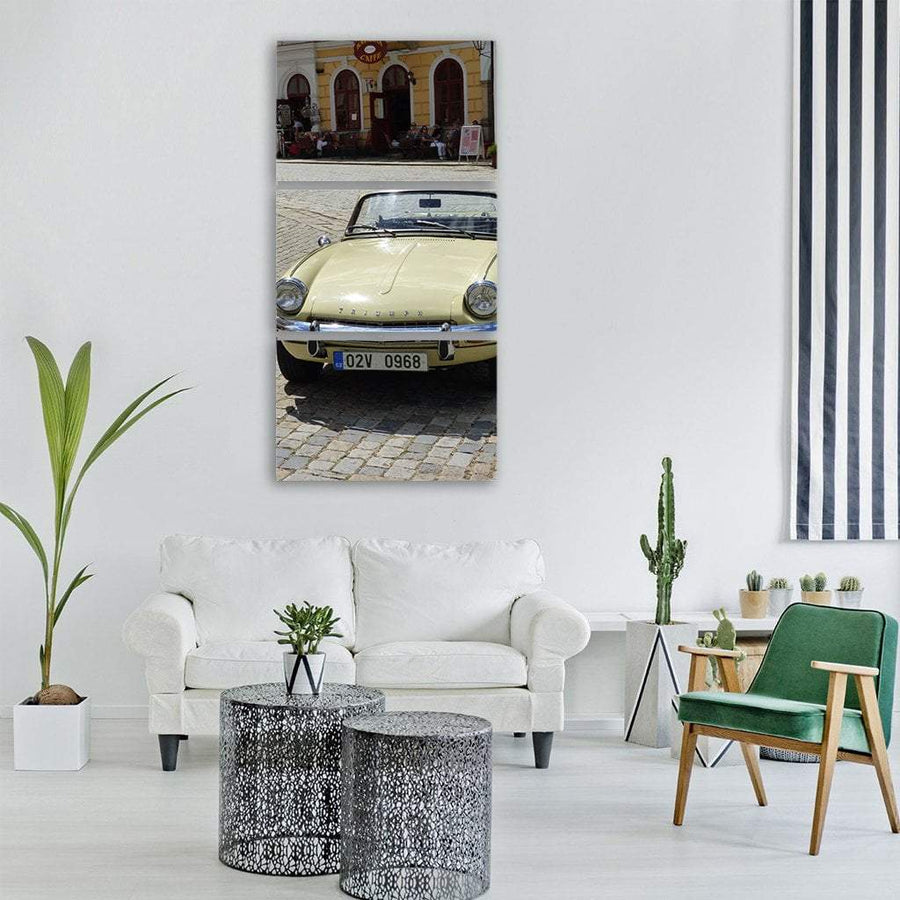 Car Monument In Czech Vertical Canvas Wall Art 1 Vertical / Small / Gallery Wrap Tiaracle
