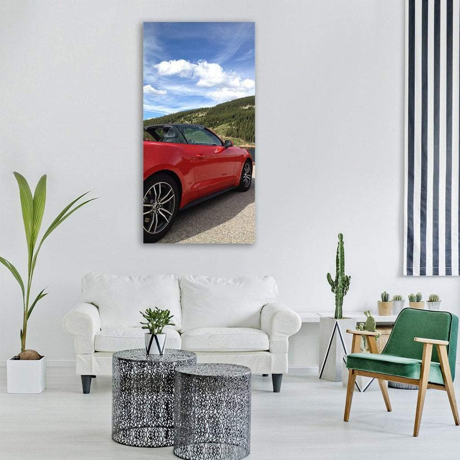 Car Road Trip In Colorado Vertical Canvas Wall Art 3 Vertical / Small / Gallery Wrap Tiaracle