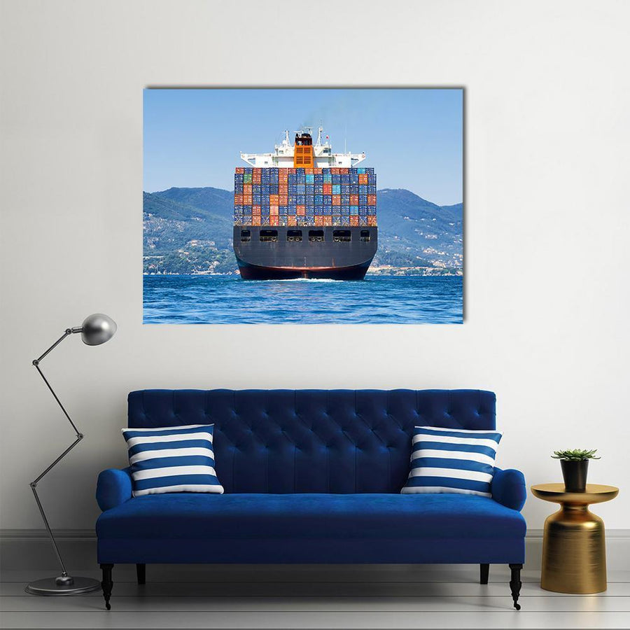 Big Cargo Container Ship Multi Panel Canvas Wall Art 5 Pieces(B) / Medium / Canvas Tiaracle