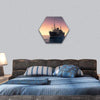 Cargo Ship Against The Evening Sky Hexagonal Canvas Wall Art 1 Hexa / Small / Gallery Wrap Tiaracle