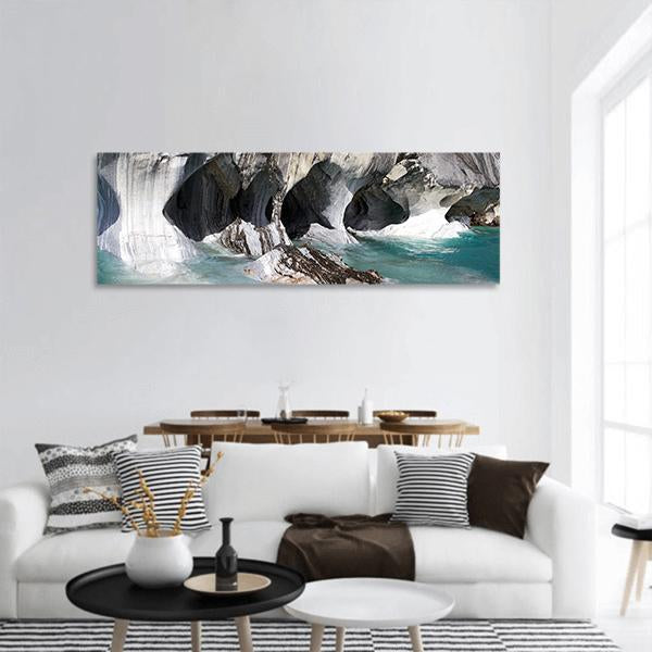 Carrera Lake In Patagonia Chile Panoramic Canvas Wall Art 3 Piece / Small Tiaracle