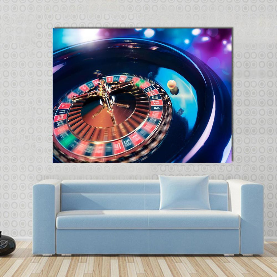 Casino Roulette In Motion Canvas Panel Painting Tiaracle
