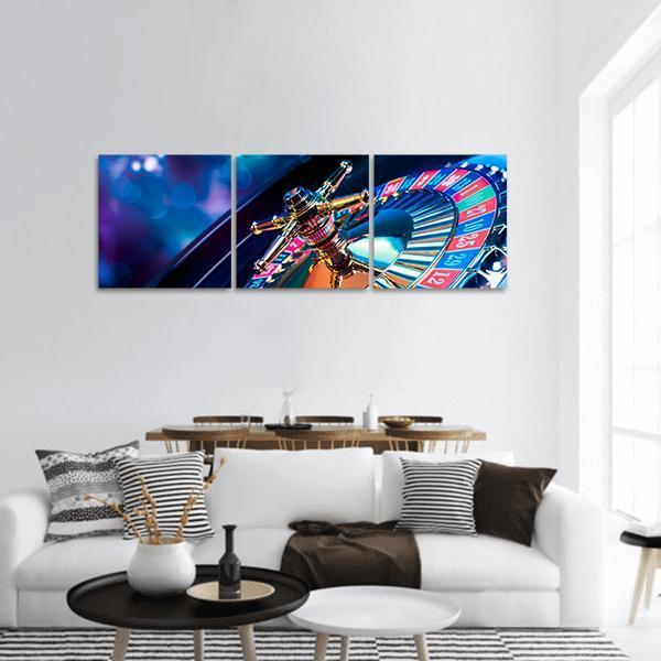 Casino Roulette Panoramic Canvas Wall Art 1 Piece / Small Tiaracle