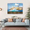 Castle Of El Morro Multi Panel Canvas Wall Art-4 Horizontal-Small-Gallery Wrap-Tiaracle