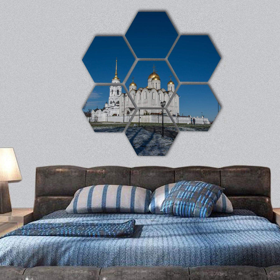 Cathedral In Vladimir Hexagonal Canvas Wall Art 1 Hexa / Small / Gallery Wrap Tiaracle