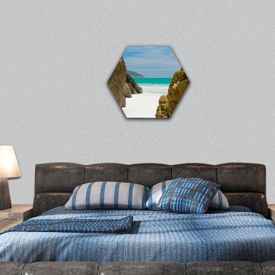 Cave In The Rocks Hexagonal Canvas Wall Art-7 Hexa-Small-Gallery Wrap-Tiaracle