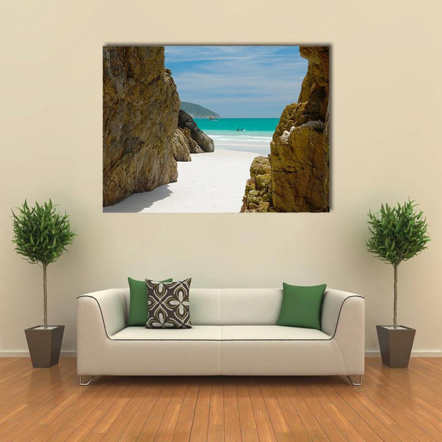 Cave In The Rocks Multi Panel Canvas Wall Art 4 Square / Small / Gallery Wrap Tiaracle
