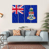 Cayman Islands Flag Canvas Wall Art-4 Horizontal-Small-Gallery Wrap-Tiaracle