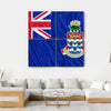Cayman Islands Flag Canvas Wall Art-4 Square-Small-Gallery Wrap-Tiaracle