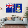 Cayman Islands Flag Canvas Wall Art-5 Horizontal-Small-Gallery Wrap-Tiaracle