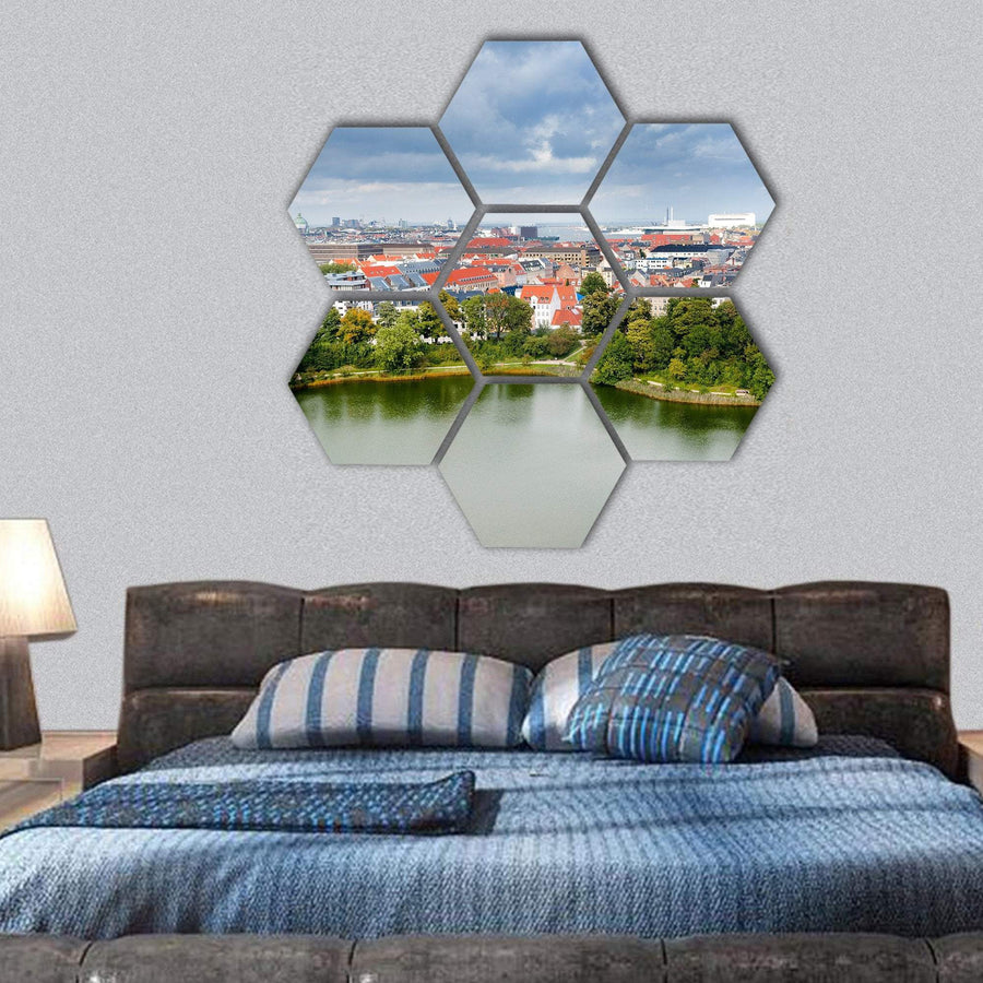 Center Of Copenhagen Hexagonal Canvas Wall Art 1 Hexa / Small / Gallery Wrap Tiaracle