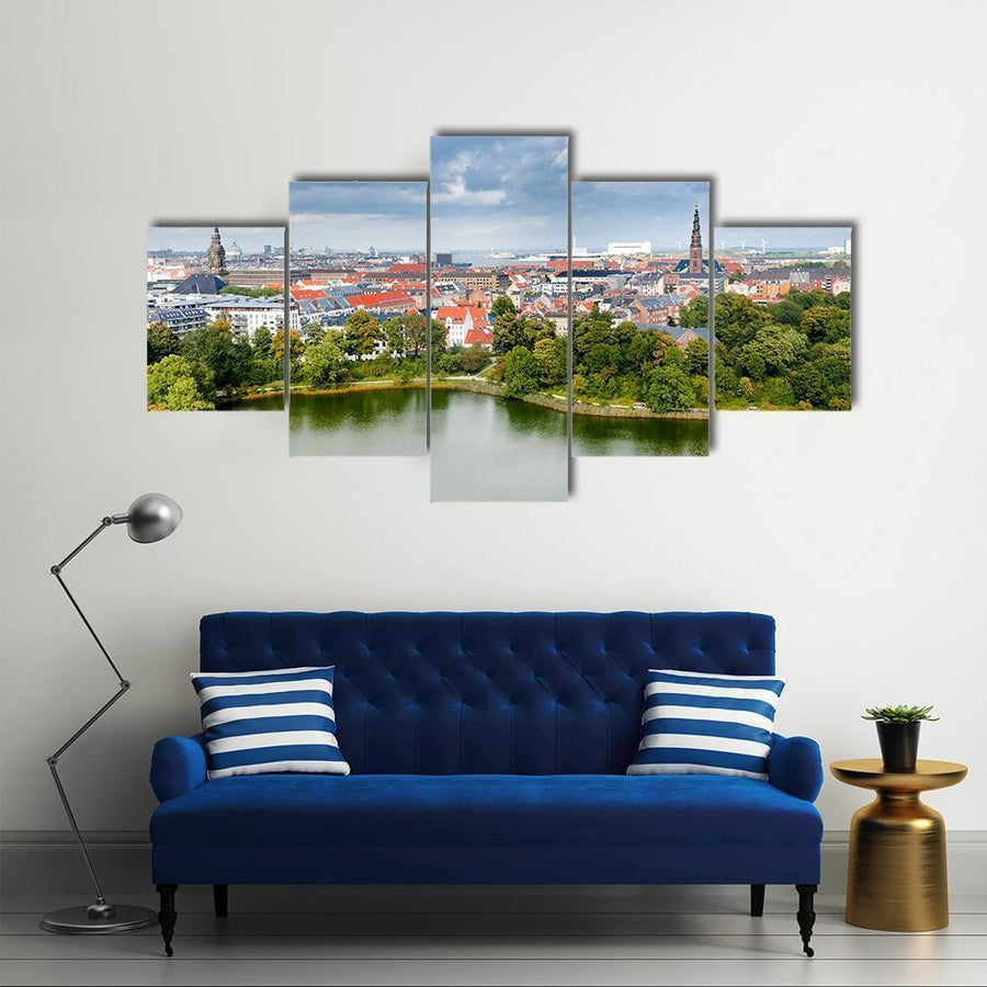 View On Center Of Copenhagen Canvas Panel Painting Tiaracle