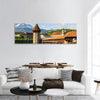 Chapel Bridge In Lucerne Switzerland Panoramic Canvas Wall Art Tiaracle