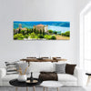 Chateau And Church In Aiguines France Panoramic Canvas Wall Art Tiaracle