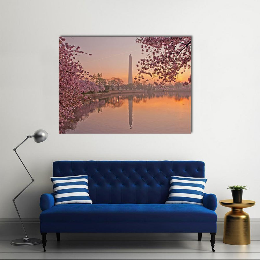 Cherry Blossom Festival Multi Panel Canvas Wall Art 4 Horizontal / Small / Gallery Wrap Tiaracle