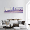 Chicago City Skyline Panoramic Canvas Wall Art 3 Piece / Small Tiaracle
