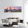 Chicago Skyline At Twilight Panoramic Canvas Wall Art 1 Piece / Small Tiaracle