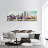 Chicago Skyscrapers By The Beach Panoramic Canvas Wall Art 3 Piece / Small Tiaracle