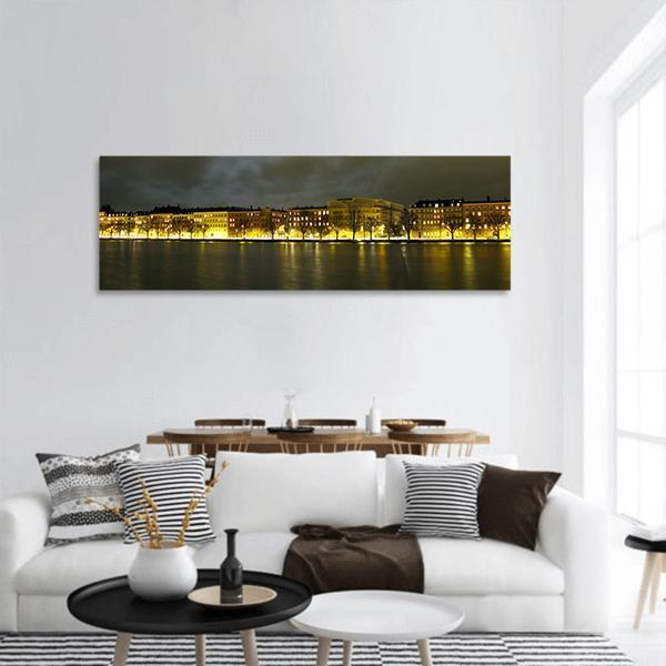 City Of Copenhagen Panoramic Canvas Wall Art 3 Piece / Small Tiaracle