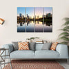 City Skyline Of Kuala Lumpur Multi Panel Canvas Wall Art 4 Horizontal / Small / Gallery Wrap Tiaracle