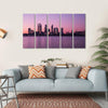 Cityscape In Perth Multi Panel Canvas Wall Art-5 Horizontal-Small-Gallery Wrap-Tiaracle