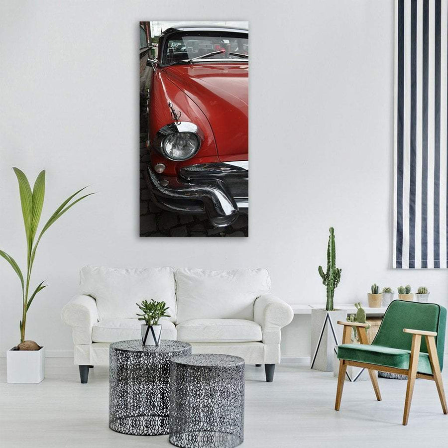 Classic Old Car Vertical Canvas Wall Art 3 Vertical / Small / Gallery Wrap Tiaracle