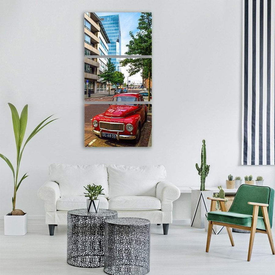 Classic Volvo Vintage Automobile Vertical Canvas Wall Art 1 Vertical / Small / Gallery Wrap Tiaracle