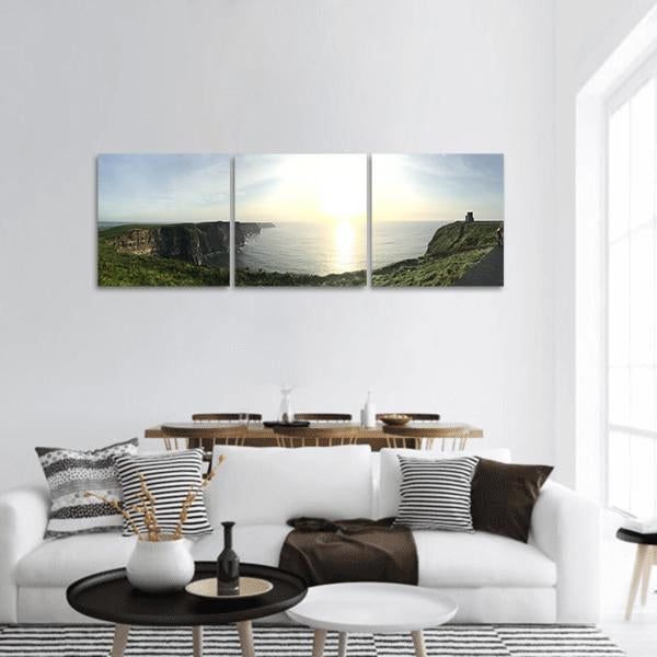 Cliffs Of Moher In Ireland Panoramic Canvas Wall Art Tiaracle