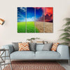 Climate Change Concept Multi Panel Canvas Wall Art 4 Horizontal / Small / Gallery Wrap Tiaracle