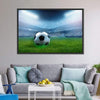 Close Up Of Football Canvas Wall Art