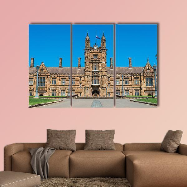 Close-Up View Of Historic Quadrant Building Multi Panel Canvas Wall Art 5 Pieces(A) / Medium / Canvas Tiaracle