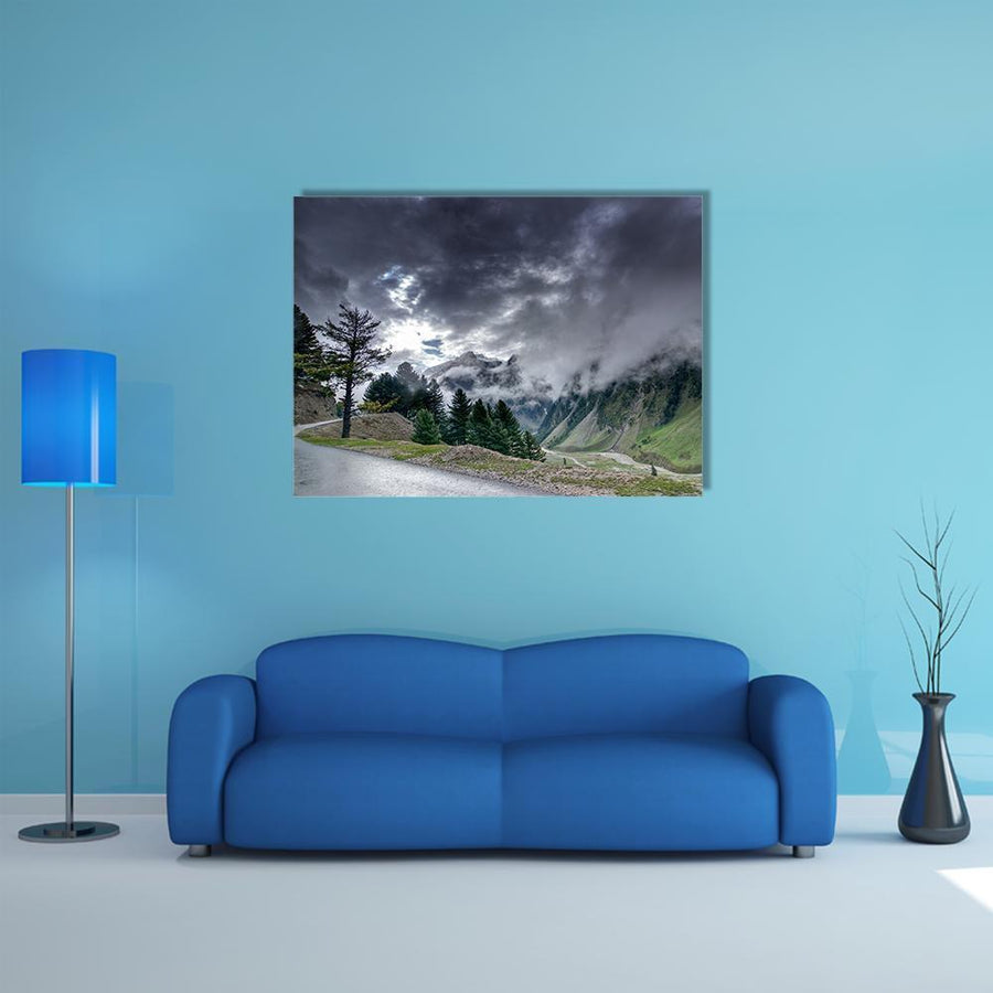 Beautiful Storm Clouds Over Mountains Of Ladakh Multi Panel Canvas Wall Art 4 Pieces / Medium / Canvas Tiaracle