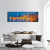 Coastline Near Sicilian City Panoramic Canvas Wall Art 3 Piece / Small Tiaracle