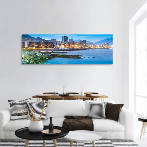 Coastline Of Antofagasta Region Panoramic Canvas Wall Art Tiaracle