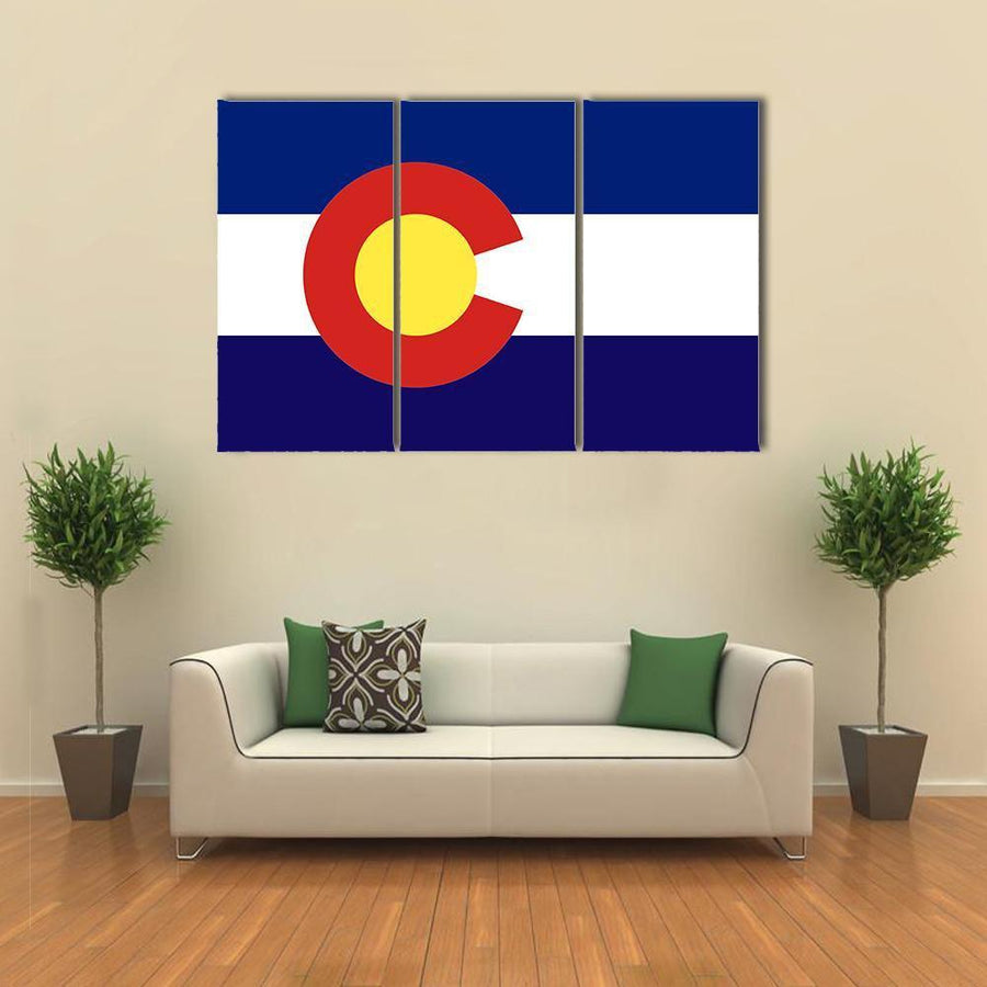 Colorado State Flag Multi Panel Canvas Wall Art 4 Pieces / Medium / Canvas Tiaracle