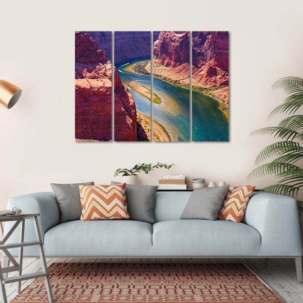 Colorado River Multi Panel Canvas Wall Art 1 Piece / Small / Gallery Wrap Tiaracle