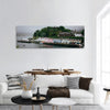 Colored Houses In Portree Harbour Panoramic Canvas Wall Art 1 Piece / Small Tiaracle