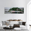 Coloured Houses In Portree Harbour Panoramic Canvas Wall Art Tiaracle